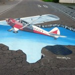 10 ( Germany , Blumberg,Permanent colors 45m2, German Piper Super Cub. 3d anamorphic picture)